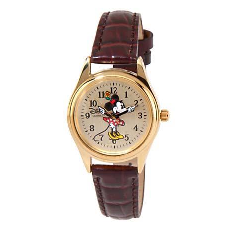 Disney Wrist Watch Golden Minnie Mouse Watch