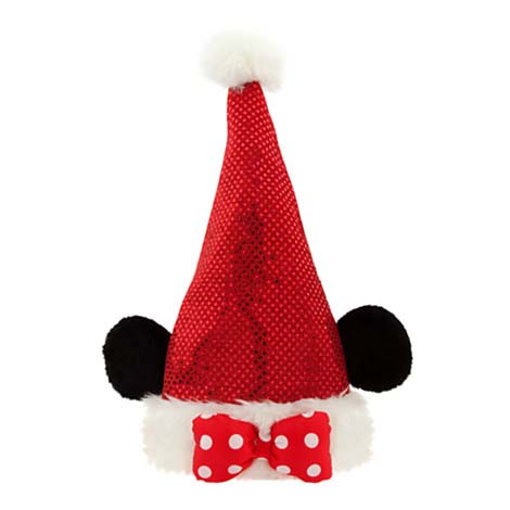 Disney Christmas Holiday Hat Minnie Mouse Sequined Santa Hat
