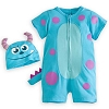 Disney Infant Bodysuit - Sulley Short Sleeve Romper Costume for Baby