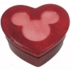 Disney Trinket Box - Handcarved Alabaster Heart w/ Mickey Icon -Dark Red