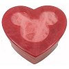 Disney Trinket Box - Handcarved Alabaster Heart w/ Mickey Icon - Burgundy