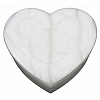 Disney Trinket Box - Handcarved Alabaster Heart w/ Mickey Icon - White