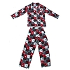 Disney MENS Pajamas - Red White and Green Plaid Mickey Mouse