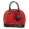 Disney Loungefly Satchel Bag - Embossed Patent Minnie Loves Mickey