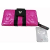 Disney Loungefly Wallet - Embossed - Minnie Loves Mickey - Fuchsia