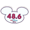 Disney Mini Ears Magnet - WDW Marathon - 48.6 RunDisney 2014