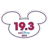 Disney Mini Ears Magnet - WDW Marathon - 19.3 RunDisney 2014
