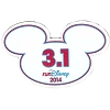 Disney Mini Ears Magnet - WDW Marathon - 3.1 RunDisney 2014 - 5k