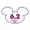 Disney Mini Ears Magnet - WDW Marathon - 6.2 RunDisney 2014 - 10K