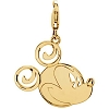 Disney Charm - Gold Mickey Mouse Smiley Face Charm