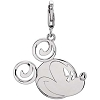 Disney Charm - Sterling Silver Mickey Mouse Smiley Face Charm