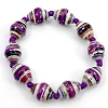 Disney EPCOT Recycled Paper Bracelet - Multi Purple Beads