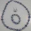 Disney EPCOT Recycled Paper Jewelry Set - Blue & White Beads