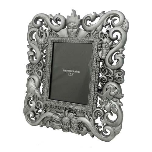 disney picture frame disney villains brushed silver finish - Disney Picture Frame