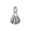Disney Chamilia Charm - Sterling Silver Pink Ariel Shell