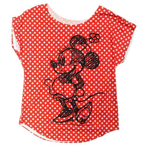 Your WDW Store - Disney WOMEN'S Shirt - Minnie Mouse Polka Dot Sketch