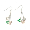 Disney Earrings - 3 Chain Mickey Icons and Shamrocks