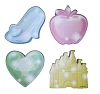 Disney Notepad 4 pc. Set - Disney Princess Heart Shoe Apple Castle