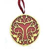 SeaWorld Christmas Ornament - Red and Gold Tail Disc