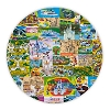 Disney Dinner Plate - Magic Kingdom Map - Magic Kingdom