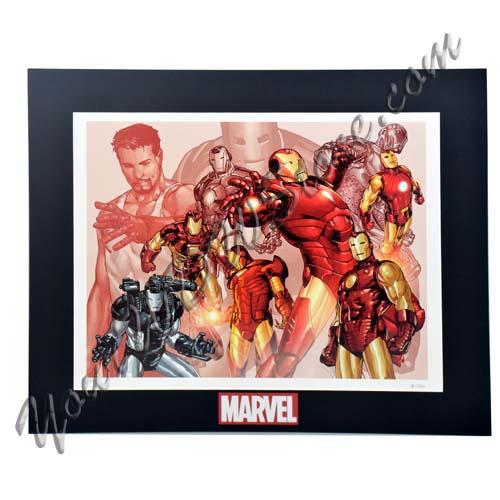 Disney Marvel Lithograph Print Iron Man War Machine Limited Edition 1000