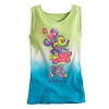 Disney CHILD Shirt - Minnie Mouse Ribbed Tank Top - Green & Blue