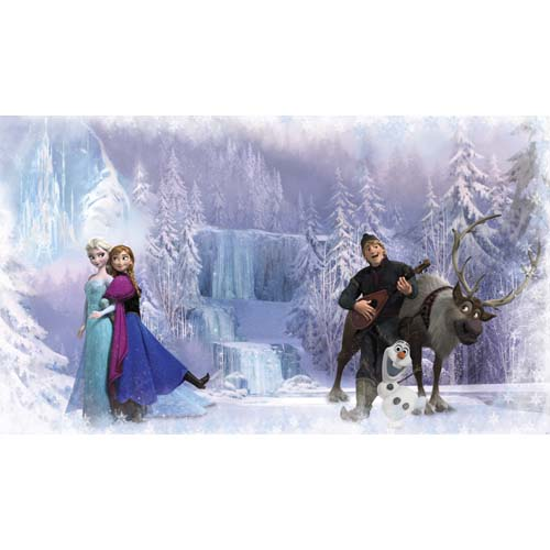 Your Wdw Store Disney Frozen Wall Mural Anna Elsa Olaf