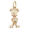 Disney Charm - Gold Mickey Mouse Figure