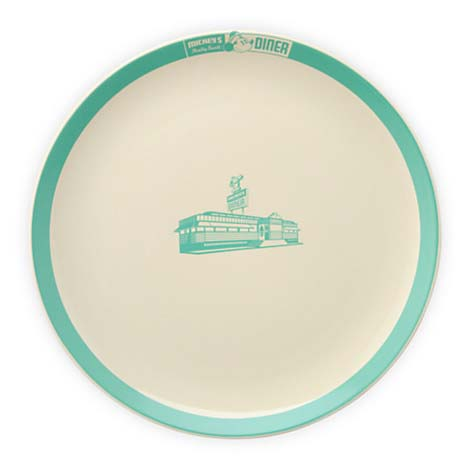 Your WDW Store - Disney Dinner Plate - Mickey's Diner Logo ...