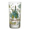 Disney Glass Tumbler - Magic Kingdom Map - Fantasyland