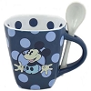 Disney Mug Coffee Cup - Mickey Mouse Polka Dot Cocoa Cup with Spoon