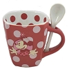 Disney Mug Coffee Cup - Minnie Mouse Polka Dot Cocoa Cup with Spoon