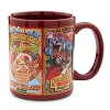 Disney Coffee Cup Mug - Attraction Poster Art - Maroon
