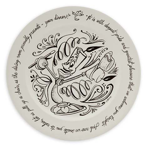 Disney Dinner Plate Be Our Guest 11 Lumiere