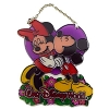 Disney Stained Glass Sun Catcher - Mickey Kissing Minnie - Small