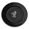 Disney Dinner Plate - Gourmet Mickey Mouse Icon - Black with White