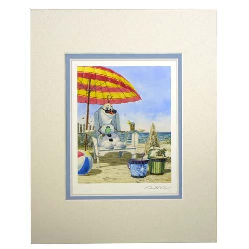 Disney David Doss Print In Summer With Olaf