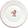 Disney Dessert Plate - Gourmet Mickey Mouse Icon - White with Red