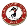 Disney Golf Ball Marker - Palm - Magnolia - Mickey - Red