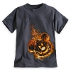 Disney Child Shirt - Halloween Flaming Mickey Pumpkin
