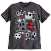Disney CHILD Shirt - Jack Skellington Faces Tee for Boys