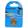 SeaWorld Dangle Charm - 50th Anniversary Logo - Gold