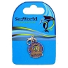 SeaWorld Dangle Charm - 50th Anniversary Logo - Silver