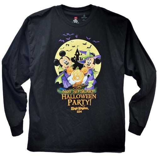 disney adult long sleeve shirt 2014 mickeys not so scary halloween party - Scary Halloween Shirts