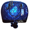 Disney Loungefly Satchel Bag - Embossed Patent Minnie Loves Mickey - Blue