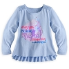 Disney Girls Shirt - When You Believe Long Sleeve - Blue
