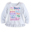Disney Girls Shirt - Positive Words Long Sleeve - White