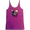 Disney Ladies Shirt - Peace Love Mickey Mouse Tank 1971 Fuscia