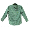 Disney Adult Shirt - Green and White Checkered Shirt - Mickey