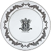 Disney Dinner Plate - Haunted Mansion - Master Gracy Crest